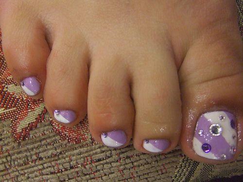 Toenail Designs For Pedicure | Purple Toes Pedicure nails