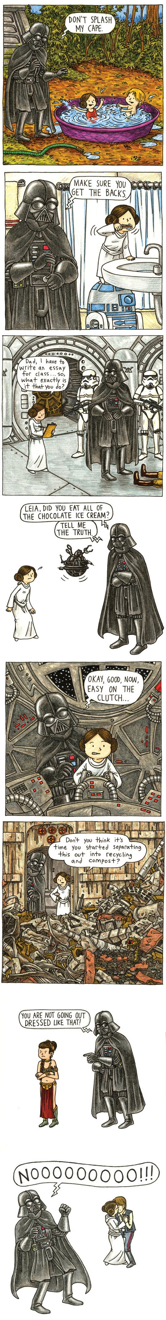 What Darth Vader would be like if he lived a normal life.