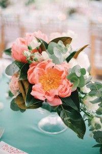 Свадьба в мятно-коралловом цвете