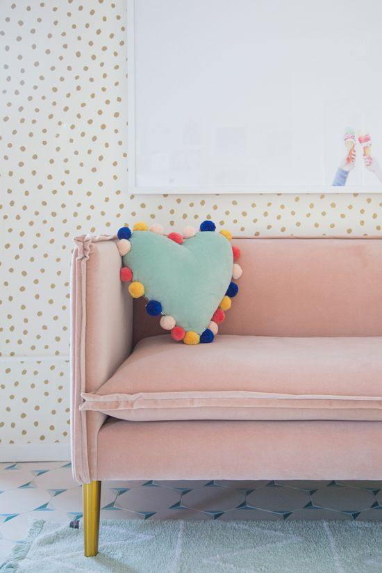 oh joy! french seam settee in blush