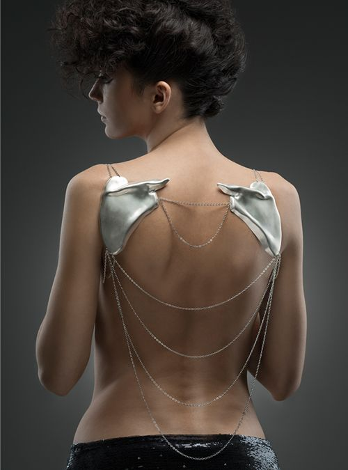 Andreea Mogosanu - Scapula Necklace, 2014 | 925 silver | Collection: Extreme Love