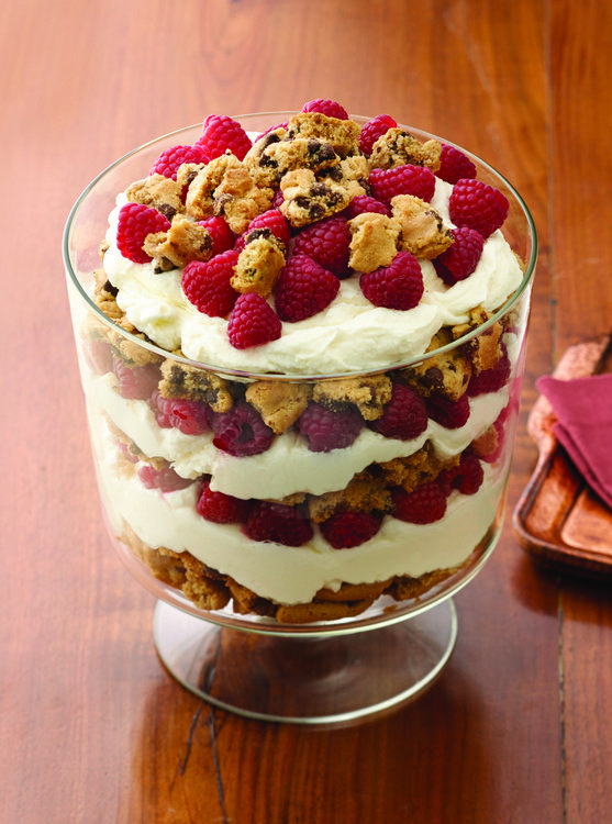 Recipe for Chocolate Chip Raspberry and White Chocolate Trifle