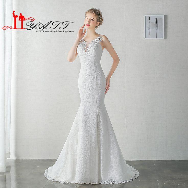LIYATT Real Picture Middle East Elegant Mermaid Cheap Vintage Wedding Dresses 2016 Stappless Sexy Arabic Bride Gowns Aramex
