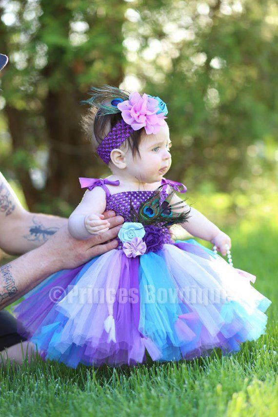 Girls Princess Party Tutu Romper Headband anniversaire Diamante baby TENUE Cute