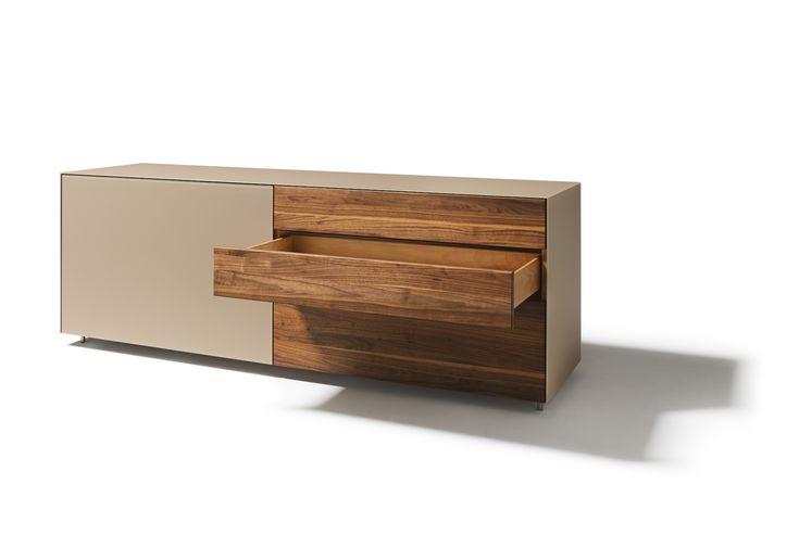 Kommode Sideboard Holz grifflos für Ess- oder Schlafzimmer - sideboard für schlafzimmer