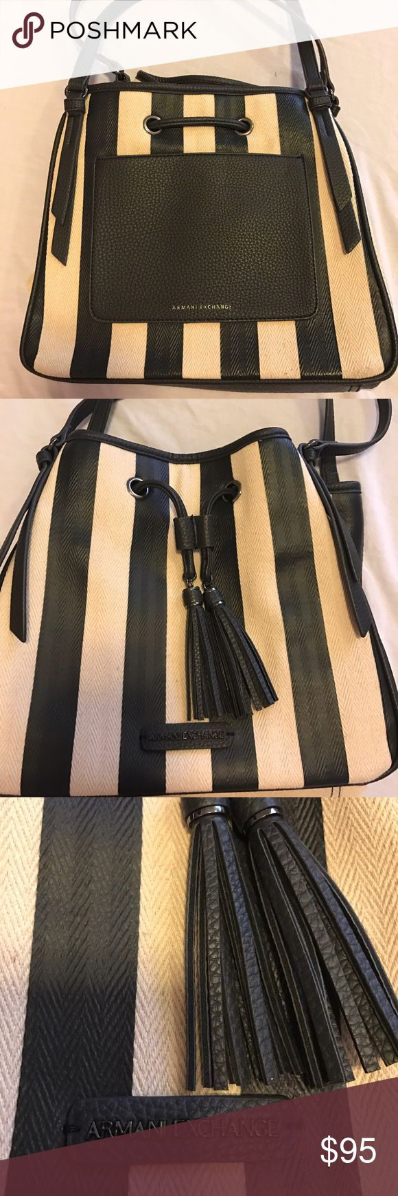Armani Exchange Purse! Authentic & Beautiful Armani Exchange Purse!  Only used a handful of times! There is a small mark on bottom back corner of Purse! (This is why my price is low) Bags Shoulder Bags