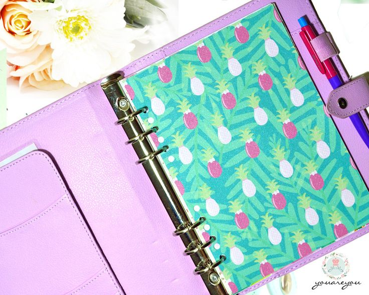 Pineapple planner dashboard A5 size, summer planner dashboard, half letter size by youareyouco on Etsy