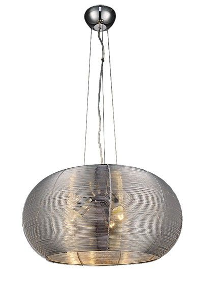 Modern és spot lámpák : Meda függeszték E27 3x 60W ezüst
