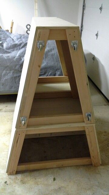 Parkour stackable vault box.  5' total in 2' and 3' sections.