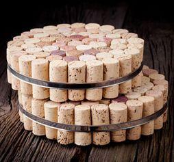 DIY Wine Cork Trivets from Sweet Living Magazine