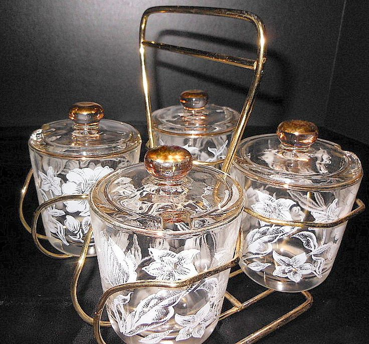 Vintage Mid Century Atomic Era Glass Cocktail Bar by LootByLouise