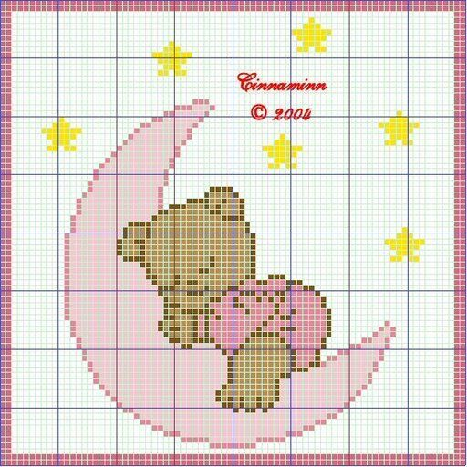 Schema punto croce Orsetta In Nuvoletta