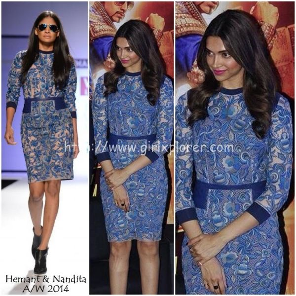 Bollywood actress, Deepika Padukone, in Hemant and Nandita Fall/Winter 2014. Shop this style now on portemode.com!