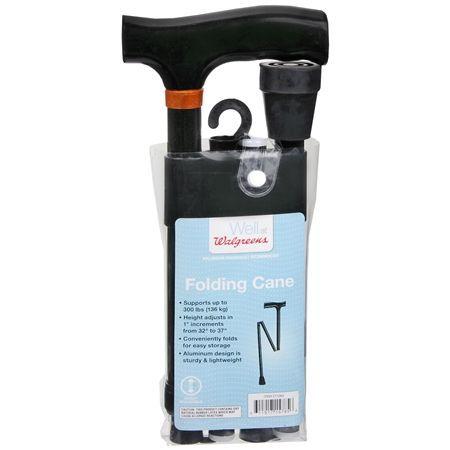 Walgreens Adjustable Folding Cane - 1 ea