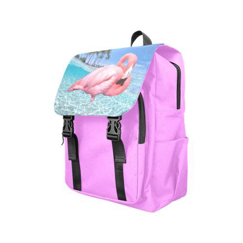 Flamingo and Palms Casual Shoulders Backpack. #FREEShipping #artsadd #lbackpacks #flamingos