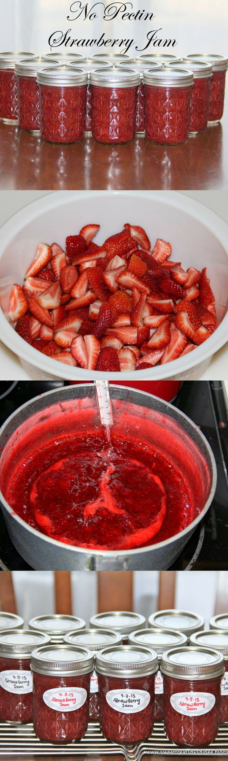 Easy Strawberry Jam (No Pectin). #strawberry #jam hinee.com/easy-strawberry-jam-no-pectin/ ❤️
