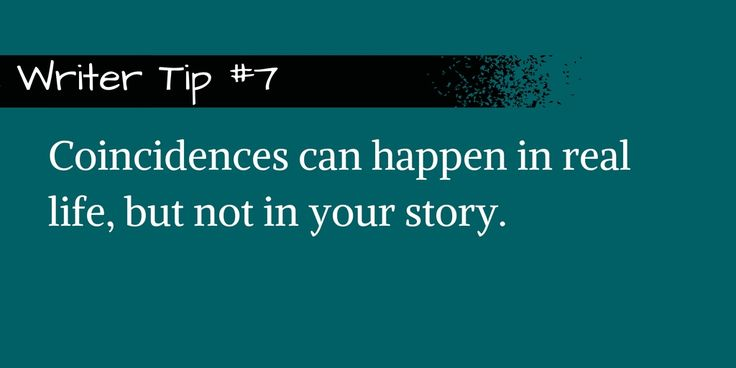Convenient coincidences make readers cry foul. #writing