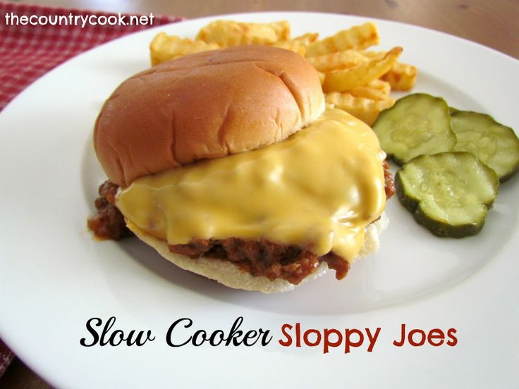 The Country Cook: Slow Cooker Sloppy Joes