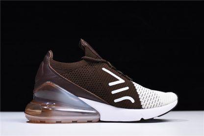 buy popular aa108 40ebf 2018 Mens Womens Nike Air Max 270 Flyknit Dark Hazel Light Bone White  Sneakers-5