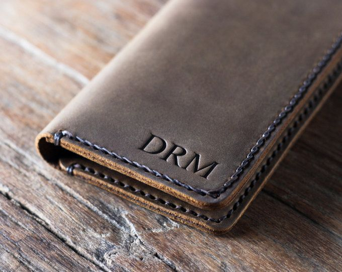 Personalized iPhone 7 Handmade Leather Wallet. JooJoobs makes these handmade gems of perfection for the iPhone 7, iPhone 7 Plus, iPhone 6S, iPhone 6 Plus and many other smartphones.