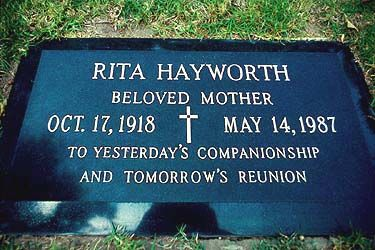 THEGRAVE OF RITAHAYWORTH  (actress)  at Holy Cross Cemetery in Culver City, California