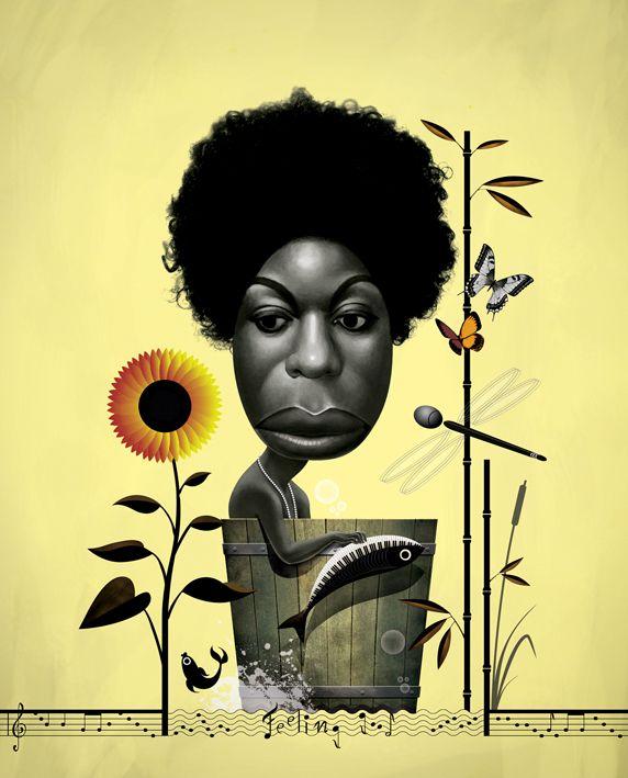 Nina Simone by Cristo Salgado