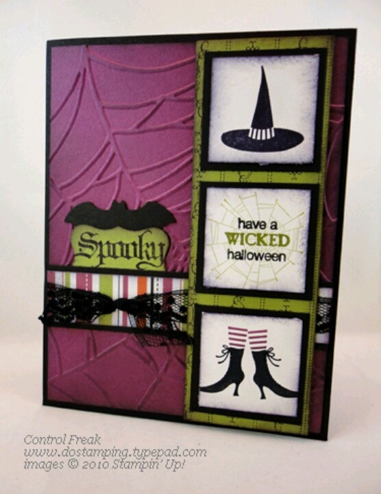 Halloween Card.  Try this set with new folded card dies.