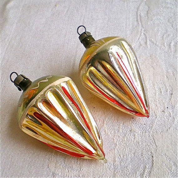 1940 christmas ornaments   Christmas, Vintage, Ornament, Mercury Glass, Decoration, Hand Made ...