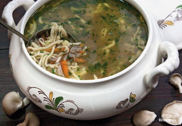 Суп из вешенок. рецепт фото