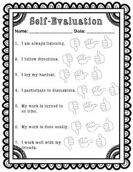 how to write work self evaluation