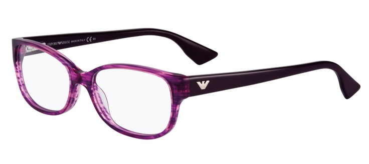 An attractive deep purple frame with a deeper feminine front. Also available in pretty rose petal pink or gorgeous teal.   2 pairs complete $439  ref: 25635201