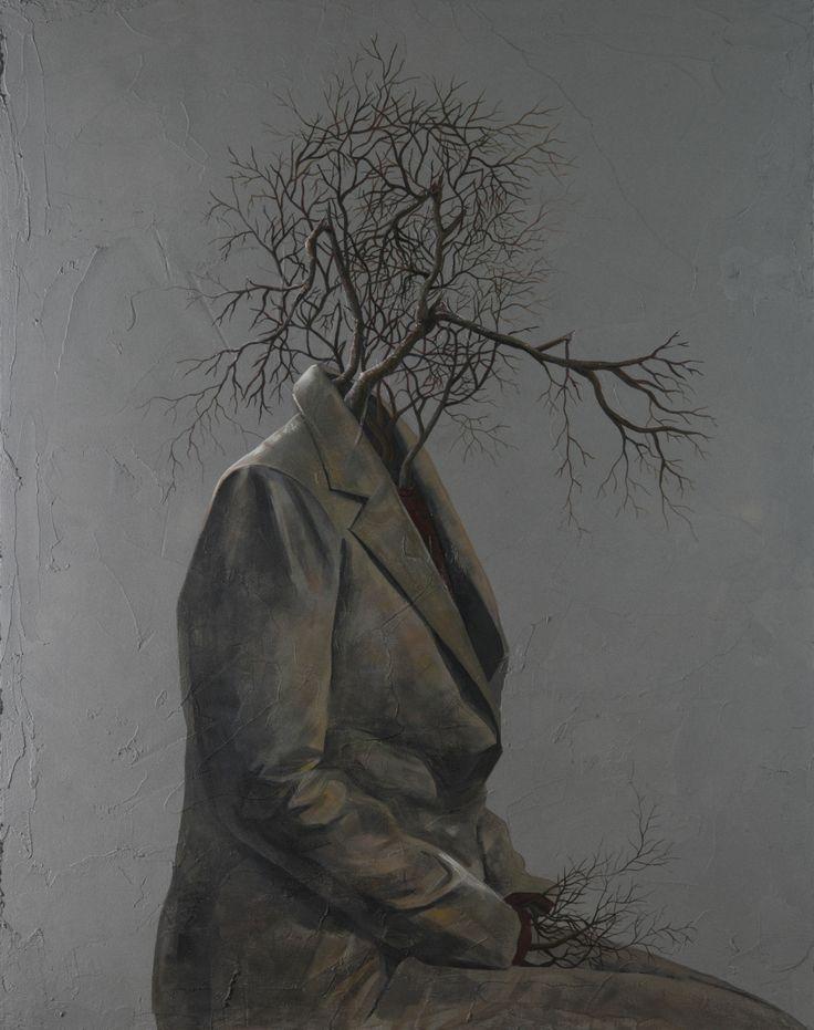 """Sun-Hyuk Kim, """"A portrait of authority"""" (South Korea), acrylic on cement, 2014 155 x 122,5 x 3,5 cm Courtesy of the artist & ONEIRO gallery"""