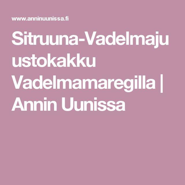 Sitruuna-Vadelmajuustokakku Vadelmamaregilla | Annin Uunissa