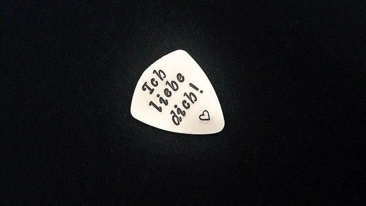Ich liebe dich guitar pick, personalized plektrum, guitarist gift for him, custom guitar pick, Valentines Day, love guitar pick, plectrum by RobertaValle on Etsy