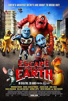 Escape from Planet Earth. Canada, US. Rob Corddry, Brendan Fraser, Sarah Jessica Parker, William Shatner, Jane Lynch. Directed by Cal Brunker. 2013