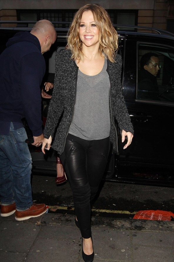 Kimberley Walsh at the BBC studios with Girls Aloud - celebrity fashion