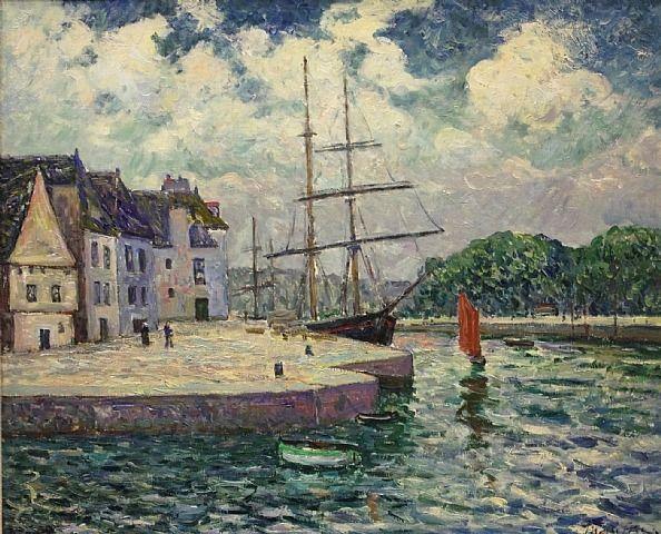 Le Port de Saint-Goustant à Auray - Maxime Maufra