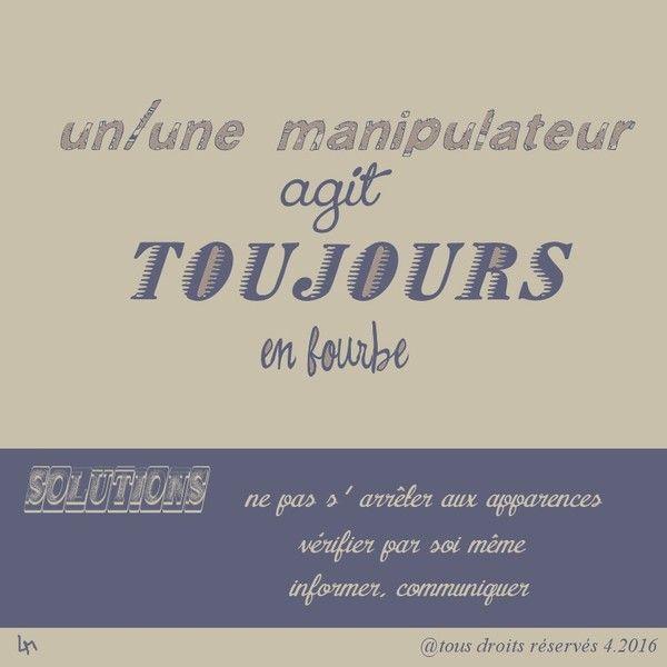manipulation, fourberie