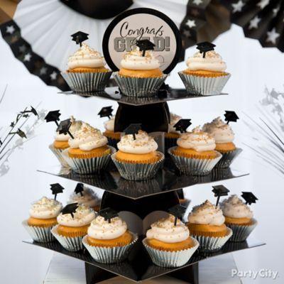 Elegant cupcakes to symbolize their bright future!