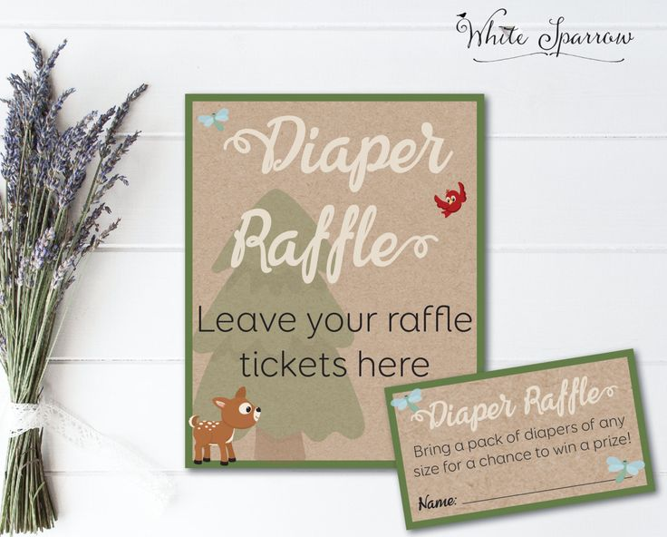 Woodland Baby Shower Diaper Raffle Tickets Neutral Baby Shower Games Rustic Baby Shower Activity Animal Baby Shower Baby Shower Decorations. by WhiteSparrowPrints on Etsy