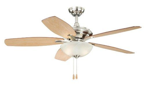 AireRyder FN52998SN Valencia 52-Inch Ceiling Fan, Satin Nickel AireRyder ceiling fan. 19-Inch Height by 52-Inch  diameter. With attractive  satin nickel Finish. Light kit included. Up to 4963 CFM on high speed.  #AireRyder #HomeImprovement
