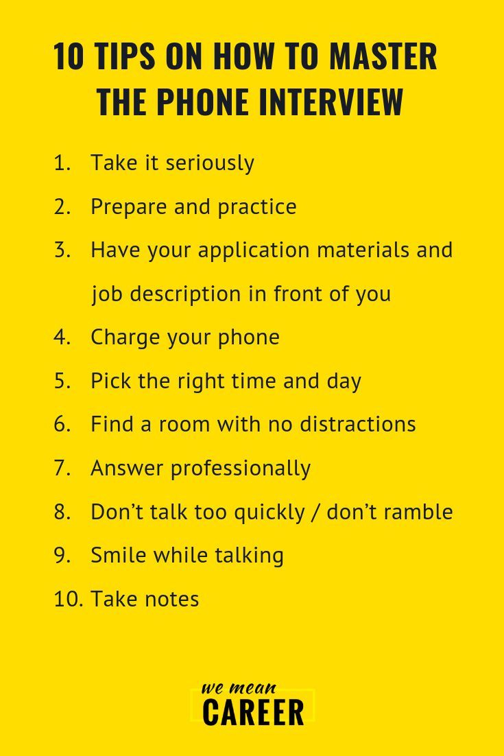Preparing for a phone interview? Here are 10 phone interview tips you could  possibly need to master it (and mo… | Phone interviews, Interview tips,  Interview advice
