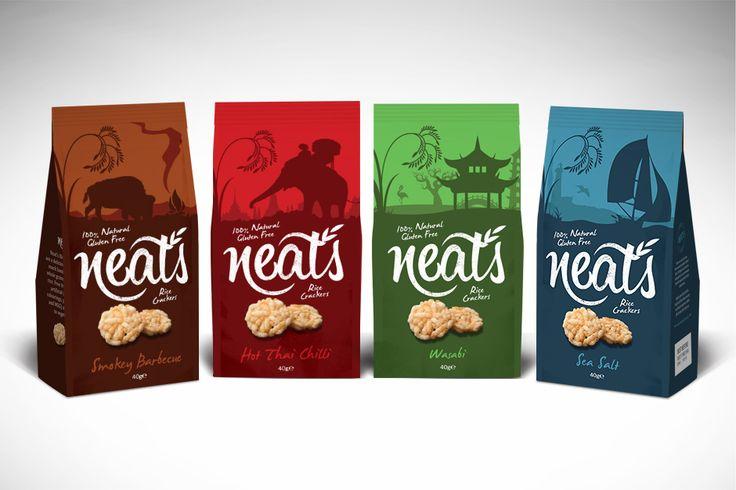 Neat's Ricke Crackers Branding
