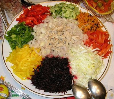 Низкокаллорийные салаты с креветками