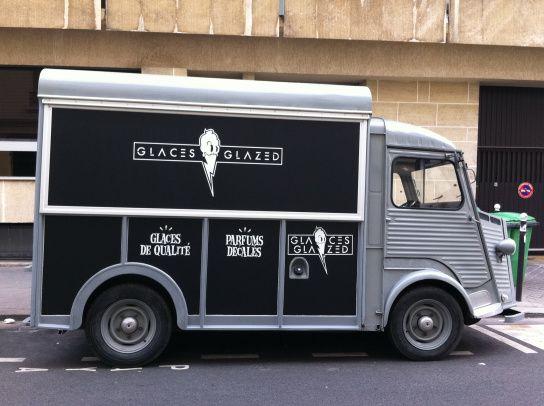 Glaces-Glazed ice cream truck, Paris. #foodtrucks