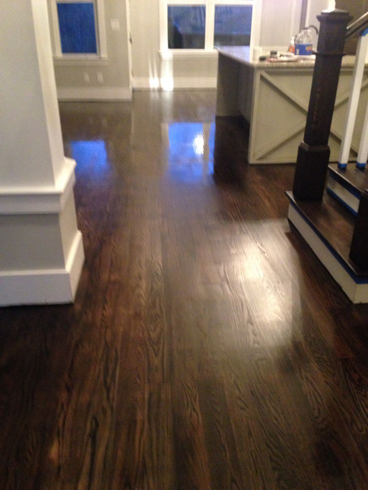 Hardwood Floors Ebony Duraseal Quick Coat On Red Oak