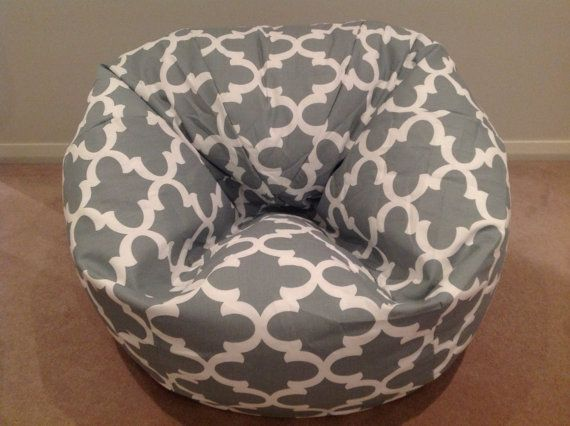 Bean Bag Kids, Teenagers, Adults Fynn Design Grey, Black, Blue, Red, Yellow Relaxed Classic Bean Bag Cover. Hand made in Australia