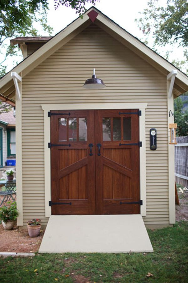 430 best images about shed on pinterest storage shed for Exterior shed doors design