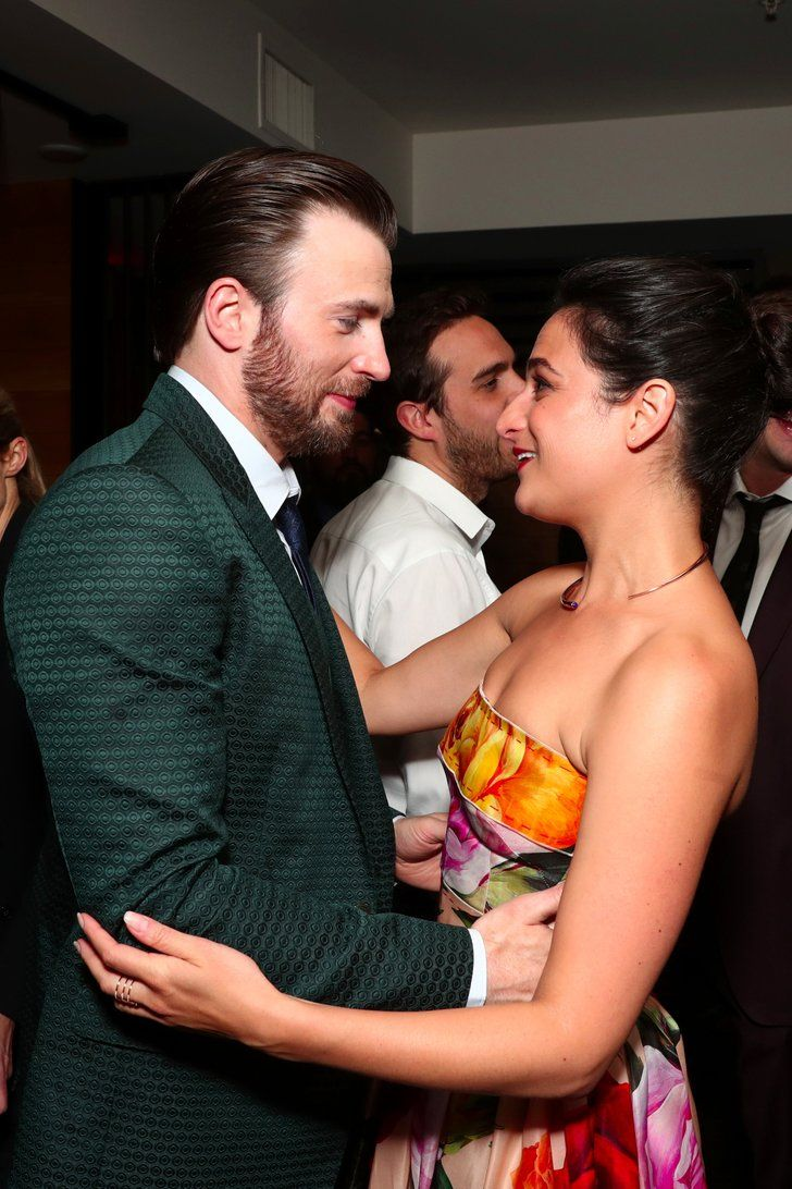 Prepare Your Hearts: Chris Evans and Jenny Slate Reunite at Their Movie Premiere
