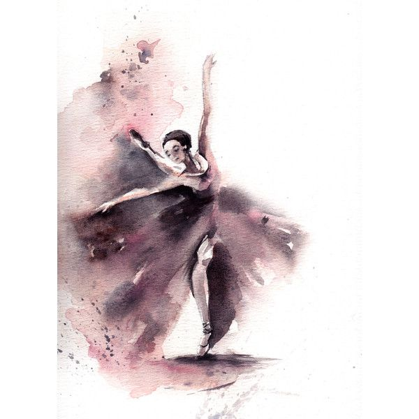 Original Watercolor Painting, Ballerina Painting, Watercolor Art,... ($110) ❤ liked on Polyvore featuring home, home decor, wall art, ballet paintings, ballet wall art, ballerina paintings and ballerina wall art